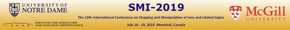 The 13th International Conference on Stopping and Manipulation of Ions and related topics (SMI-2019)